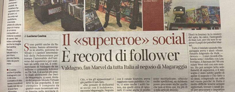 Davide Maga ed il Mondo Virtuale sul Corriere della Sera